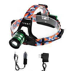 Linternas de Cabeza LED 2000 Lumens 3 Modo Cree XM-L T6 18650.0 Enfoque AjustableCamping/Senderismo/Cuevas De Uso Diario Ciclismo Caza