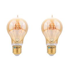 E26/E27 LED-gloeilampen A60 (A19) COB 400 lm Warm wit Decoratief AC 220-240 V 2 stuks