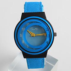 Mujer Reloj de Moda Reloj creativo único Cuarzo / PU Banda Casual Azul Gris Gris Azul