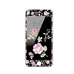 til Apple iPhone 7 plus 5,5 tommer glasskærm hærdet protektor med blød kant fuld skærm dækning foran skærmbeskytter tegnefilm blomster