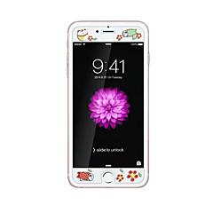 iPhone 6 / 6s plus 5.5inch karkaistu lasi läpinäkyvä edessä näytön suojakalvon kanssa emboss piirretty kuvio loistaa pimeässä onni kissa