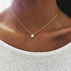 Dame Coliere cu Pandativ Bijuterii Star Shape Aliaj Design Unic Stil Atârnat Multi-moduri Wear costum de bijuterii Bijuterii Pentru Zi de