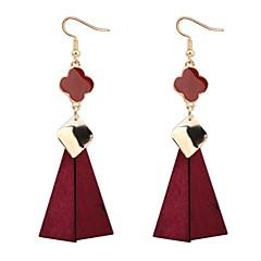 Druppel oorbellen Eenvoudige Stijl Europees Imitatieparel Koper Kauri Klavertje vier Zwart Rood Groen Sieraden Voor Feest Causaal 1 paar