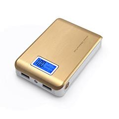 10000mAhbanco de la energía de la batería externa Multisalida con el cable Linterna 10000 1000-2100 Multisalida con el cable Linterna