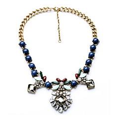 Women's Choker Necklaces Statement Necklaces Jewelry Jewelry Gemstone Alloy Fashion Personalized Euramerican Luxury European Dark Blue
