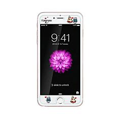 Apple iPhone 6 / 6s 4.7inch edzett üveg átlátszó elülső képernyő védő a domborít rajzfilm minta világít a sötétben torta