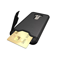 For ASUS ZenFone 3 (ZE552KL)(5.5) Case Cover Card Holder Shockproof with Stand Back Cover Solid Color Hard PC