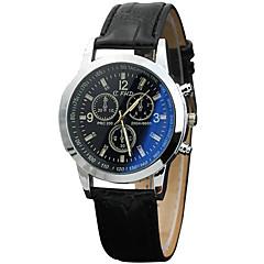 Modieus horloge Polshorloge Kwarts PU Band Cool Vrijetijdsschoenen Zwart Bruin Zwart Bruin
