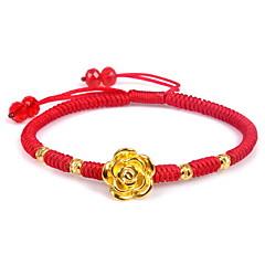 Kæde & Lænkearmbånd Mode Sølv Guldbelagt Nylon Blomstformet Smykker Rose Smykker Til Fødselsdag Julegaver