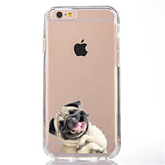 Mert Átlátszó Minta Case Hátlap Case Kutya Puha TPU mert AppleiPhone 7 Plus iPhone 7 iPhone 6s Plus iPhone 6 Plus iPhone 6s iPhone 6
