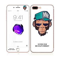 Apple iPhone 7 4,7 hartowanego szkła z miękkiej krawędzi pełne pokrycie ekranu z przodu iz tyłu Screen Protector żywności małpa wzór