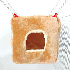 Rodents Hutches Foldable Cotton Brown
