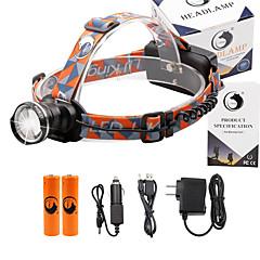 Linternas de Cabeza 2000 Lumens 3 Modo Cree XM-L T6 18650.0 Enfoque Ajustable Tamaño CompactoCamping/Senderismo/Cuevas De Uso Diario