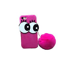 Mert DIY Case Hátlap Case Rajzfilmfigura Kemény Textil mert Apple iPhone 7 Plus iPhone 7 iPhone 6s Plus/6 Plus iPhone 6s/6