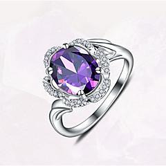 Ring Kristall Ädelsten lyxiga smycken Purpur Smycken Dagligen Casual 1st