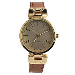 Damen Modeuhr Armbanduhren für den Alltag Quartz / PU Band Bequem Braun Marke