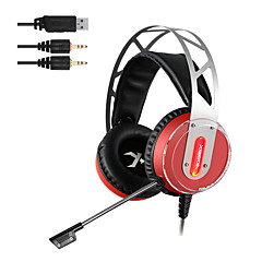 xiberia v12 gaming headset LED lys computer super bas casque audio vibration og glød pc gamer hovedtelefoner med mikrofon
