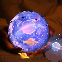 1pcs Magie Projekt Lampe Diamantform Nachtlicht LED-Stern-Projektor 3 Farbe usb wechselnden Nachtnachtlicht Projektor Lade