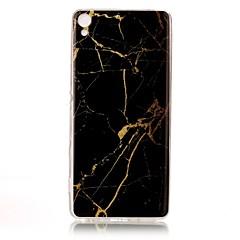 For IMD Mønster Etui Bagcover Etui Marmor Blødt TPU for Sony Sony Xperia XA