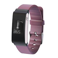 Du a22 mænds kvinde smart armbånd / smarwatch / puls monitor sm wristband sovevagt skridttæller temperatur vandtæt til ios android telefon