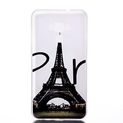 Mert Foszforeszkáló Jeges Áttetsző Minta Case Hátlap Case Eiffel torony Puha TPU mert AsusAsus ZenFone 3 (ZE552KL)(5.5) Asus Zenfone 3