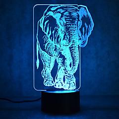 Boże Narodzenie słonia dotyk dimming 3d led światła nocne 7colorful dekoracji atmosfera światła nowości oświetlenie boże narodzenie