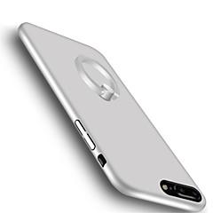 För med stativ Ringhållare Ultratunt fodral Skal fodral Enfärgat Hårt PC för Apple iPhone 7 Plus iPhone 7