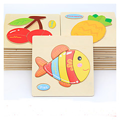 puslespil GDS-sæt Pædagogisk legetøj Træpuslespil Byggesten Gør Det Selv Legetøj Fisk 1