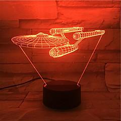 roman 3d visuella ledde nattlampa star trek fartyg siffra cool dekor bordslampa nightlamp Veilleuse enfant kontakt Lampen för fans