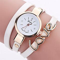 New Fashion Leather Bracelet Watches Casual Women Wrist Watch Luxury LOVE Quartz Watch Relogio Feminino