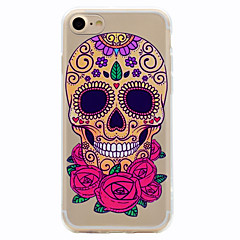 For Flower Skeleton Pattern Soft TPU Material Phone Case for iPhone 7 Plus 7