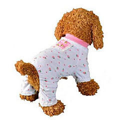 개 점프 수트 파자마 강아지 의류 귀여운 캐쥬얼/데일리 과일 핑크