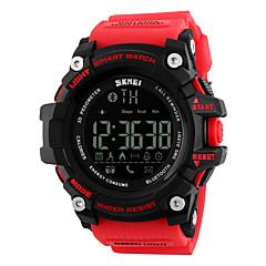 skmei 1227 mænds kvinde smarte armbånd / smarwatch / personlighed store dial bevægelse skridt multi-funktion vandtæt til iOS