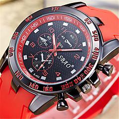 Da uomo Orologio alla moda Orologio digitale Quarzo Digitale PU Banda Casual Nero Bianco Blu Rosso Arancione Verde Rosso