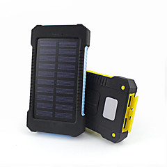 10000mAhbanque de puissance de batterie externe Charge Solaire Sorties Multiples Lampe Torche Imperméable 10000 3100Charge Solaire