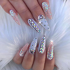 Mischgröße ab Glitter Acryl Strass Nagelkunstdekorationen