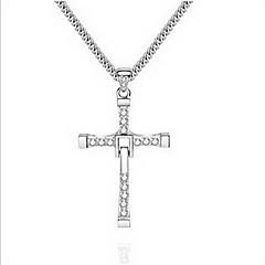 Damskie Męskie Naszyjniki z wisiorkami Biżuteria Cross Shape Stop Wiszący Osobiste euroamerykańskiej Biżuteria Na Codzienny Casual