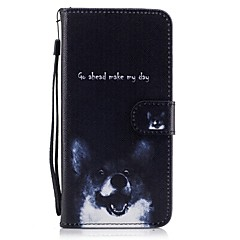 For Card Holder Wallet with Stand Flip Pattern Case Full Body Case Dog  Hard PU Leather for Apple iPhone 7 Plus iPhone 7 iPhone 6s Plus/6 5C 5G