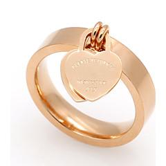 Bandringen Hart Titanium Staal Hartvorm Goud Zilver Roos Sieraden Voor Bruiloft Feest Speciale gelegenheden Dagelijks Causaal 1 stuks