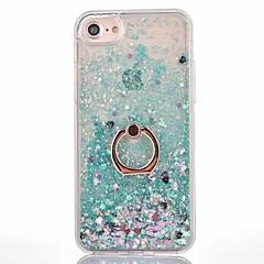 Για iPhone X iPhone 8 iPhone 8 Plus Θήκες Καλύμματα Ρέον υγρό Βάση δαχτυλιδιών Πίσω Κάλυμμα tok Συμπαγές Χρώμα Σκληρή PC για Apple iPhone