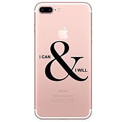Für Transparent Muster Hülle Rückseitenabdeckung Hülle Wort / Satz Weich TPU für AppleiPhone 7 plus iPhone 7 iPhone 6s Plus iPhone 6 Plus