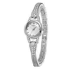 Women's Fashion Watch Quartz Alloy Band Silver