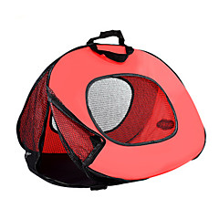 고양이 캐리어&여행용 배낭 침대 애완동물 바구니 솔리드 휴대용 통기성 폴더 화이트 레드