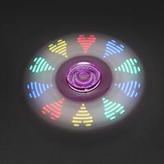Fidget spinner -stressilelu hand Spinner Lelut Tri-Spinner LED Spinner Metalli Muovi EDCStressiä ja ahdistusta Relief Office Desk Lelut