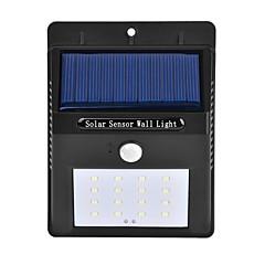 1kpl ulkona aurinkoenergialla 16 SMD LEDit liiketunnistimen seinä valo puutarha lamppu