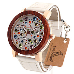 BOBO BIRD Women's Fashion Watch Wristwatch Unique Creative Cool Casual Genuine Leather Band Vintage Luxury Watches Wood Watch