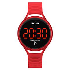 SKMEI Unisex Sportuhr Modeuhr Armbanduhr Digitaluhr Japanisch digital LED Touchscreen Wasserdicht Silikon Band CoolSchwarz Blau Rot Gelb