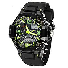 Masculino Relógio de Moda Quartzo Silicone Banda Preta