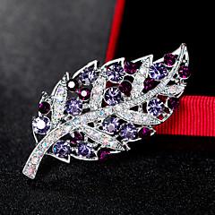 Dames Broches Modieus Euramerican Strass Legering Bladvorm Sieraden Voor Bruiloft Feest Speciale gelegenheden Dagelijks