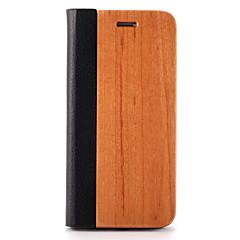 Varten kotelot kuoret Korttikotelo Tuella Origami Magneetti Kokonaan peittävä Etui Yksivärinen Kova Puu varten AppleiPhone 7 Plus iPhone